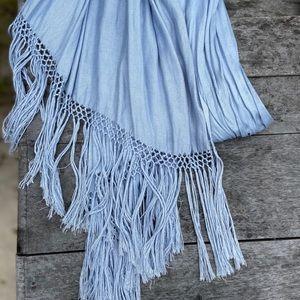 Elegant Baby Blue Scarf